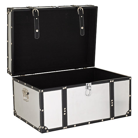 Buy John Lewis Rectangle Storage Trunk, Silver Online at johnlewis.com