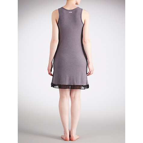 Buy DKNY Crosby Street Built Up Chemise, Grey/Black Online at johnlewis.com