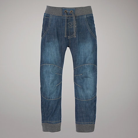 Buy John Lewis Boy Elasticated Jeans, Denim Online at johnlewis.com