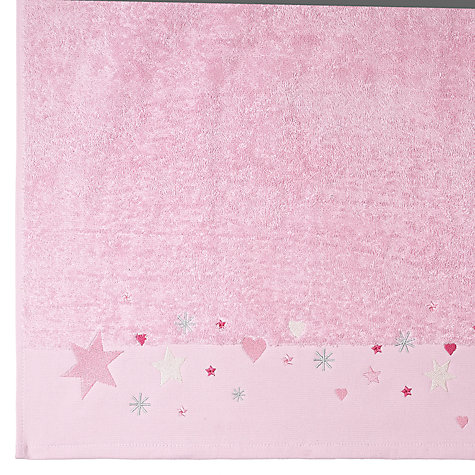Buy little home at John Lewis Make A Wish Star Towels, Pink Online at johnlewis.com