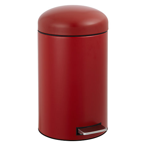 Buy Brabantia Retro Pedal Bin, 12L, Deep Red Online at johnlewis.com
