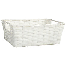 Buy Paper String Storage Baskets, White Online at johnlewis.com