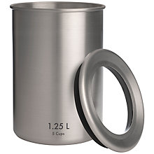 Buy Sebastian Conran for John Lewis Aluminium Storage Jar, Medium Online at johnlewis.com