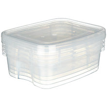 Buy John Lewis The Basics Storage Containers, Set of 4 Online at johnlewis.com