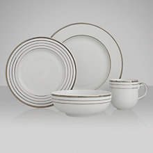 Buy John Lewis Platinum Dot Tableware Online at johnlewis.com