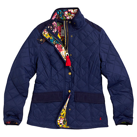 Buy Joules Moredale Quilted Jacket, Navy Online at johnlewis.com
