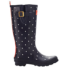 Buy Joules Navy Spot Rubber Wellingtons, Navy/White Online at johnlewis.com