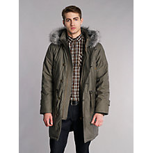 Buy Merc Harvard Guilford Wax Fur Trimmed Parka, Stone Online at johnlewis.com