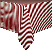 Buy John Lewis Holiday Fine Stripe Tablecloth Online at johnlewis.com