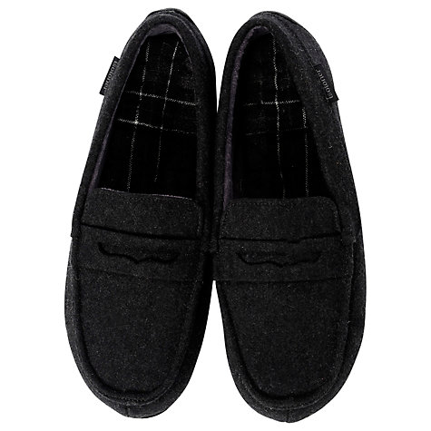 Buy Totes Felt Moccasin Slippers, Grey Online at johnlewis.com