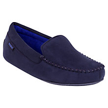Buy Totes Suedette Moccasin Slippers, Navy Online at johnlewis.com