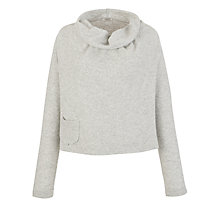 Buy Crea Concept Cowl Neck Pocket Jumper, Light Grey Online at johnlewis.com