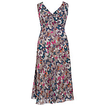Buy Chesca Butterfly Print Crinkle Dress, Sand Online at johnlewis.com