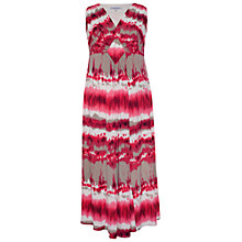 Buy Chesca Ikat Print Jersey Dress, Sorbet Online at johnlewis.com