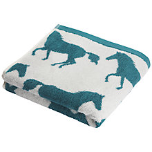 Buy Anorak Horse Towels, Green Online at johnlewis.com