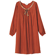 Buy Toast Antonia Silk Nightdress, Terracotta Online at johnlewis.com