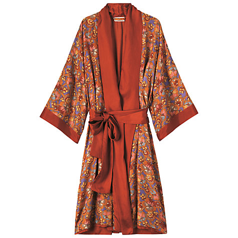 Buy Toast Antonia Silk Dressing Gown, Terracotta Online at johnlewis.com