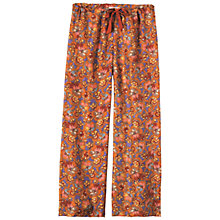 Buy Toast Antonia Silk Pyjama Trousers, Terracotta Online at johnlewis.com