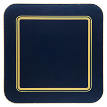 Buy John Lewis Classic Coasters, Set of 6, Navy/Gold Online at johnlewis.com
