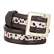 Buy COLLECTION by John Lewis Charlotte Hair-On Leather Belt, Leopard Brown Online at johnlewis.com
