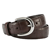 Buy John Lewis Smart Mock Croc Leather Belt Online at johnlewis.com