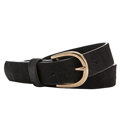 Buy Collection WEEKEND by John Lewis Hair-On Leather Belt, Black Online at johnlewis.com