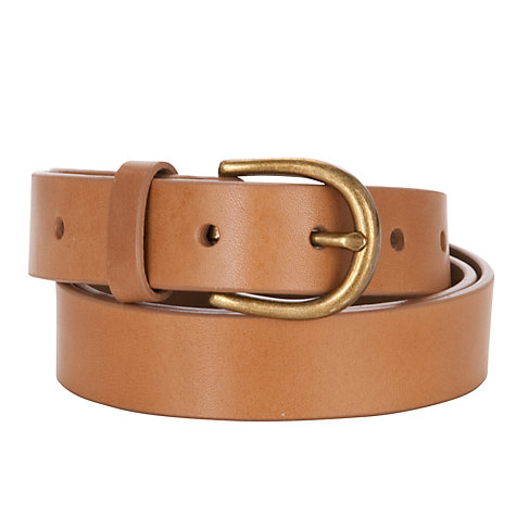 Buy Collection WEEKEND by John Lewis Smooth Leather Belt, Tan Online at johnlewis.com