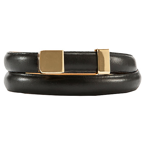 Buy COLLECTION by John Lewis Smart Skinny Leather Belt, Black Online at johnlewis.com