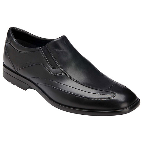 Buy Rockport Business Lite Leather Slip On Shoes, Black Online at johnlewis.com