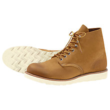 Buy Red Wing Hawthorne 6-Inch Leather Boots, Beige Online at johnlewis.com