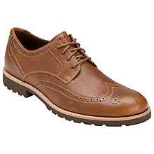 Buy Rockport Ledge Hill Wing Tip Leather Shoes, Light Tan Online at johnlewis.com