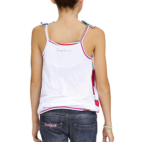 Buy Desigual Amanda Top, White Online at johnlewis.com