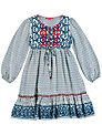 Derhy Kids Ikat Dress, Blue
