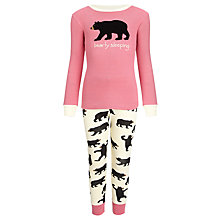 Buy Hatley Girls' Bearly Sleeping Pyjamas, Pink Online at johnlewis.com