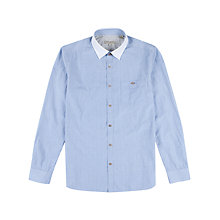 Buy Ted Baker Brinza Stripe Long Sleeve Shirt, Light Blue Online at johnlewis.com