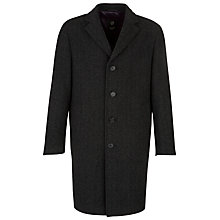 Buy Bugatti Herringbone Epsom Coat, Charcoal Online at johnlewis.com