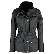 Buy Barbour International Polarquilt Jacket, Charcoal Online at johnlewis.com