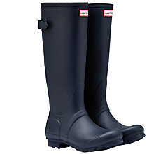 Buy Hunter Original Adjustable Rubber Wellington Boots, Navy Online at johnlewis.com