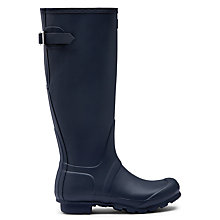 Buy Hunter Women's Original Adjustable Rubber Wellington Boots, Matt Navy Online at johnlewis.com