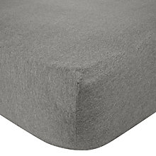Buy House by John Lewis Jersey Marl Fitted Sheet Online at johnlewis.com