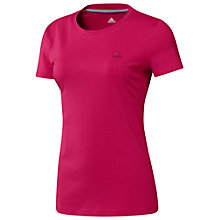 Buy Adidas Essentials T-Shirt, Bright Pink Online at johnlewis.com
