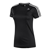 Buy Adidas Response Short Sleeve T-Shirt, Black/White Online at johnlewis.com