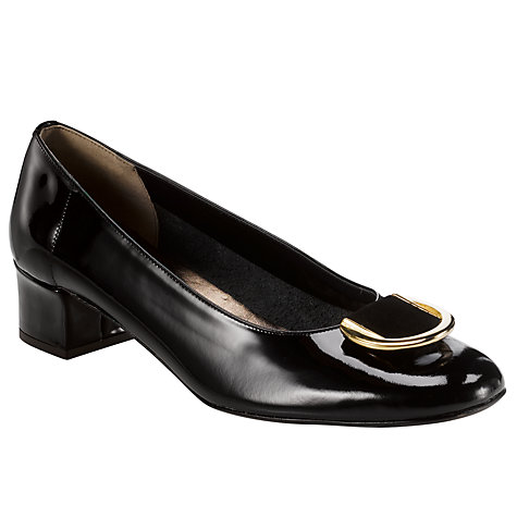 Buy John Lewis Molly Patent Leather Formal Ballerina Pumps, Black Online at johnlewis.com