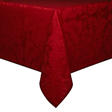 Buy John Lewis Damask Tablecloth, Red Online at johnlewis.com