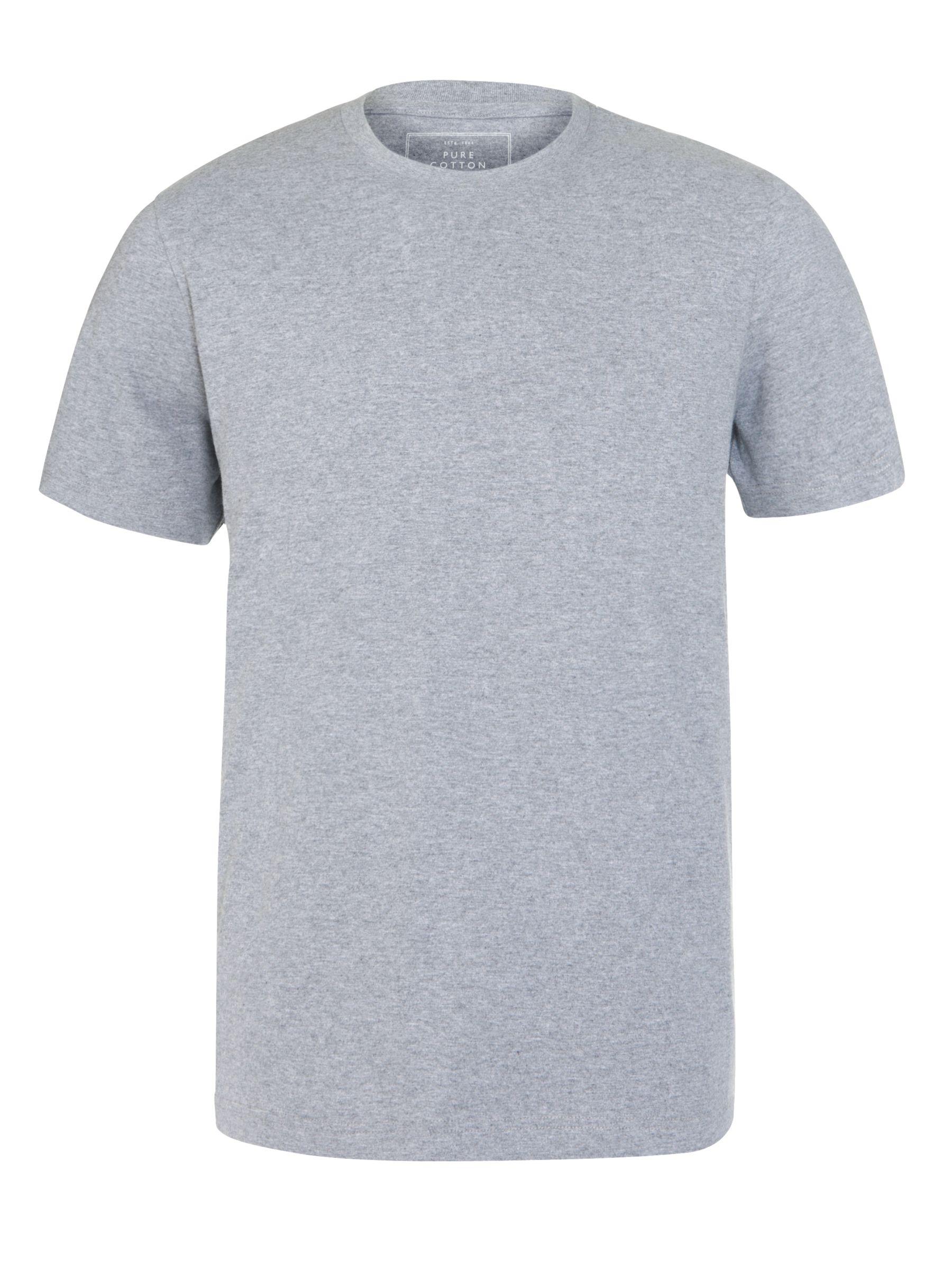 John Lewis Crew Neck Short Sleeve Lounge T-Shirt, Grey