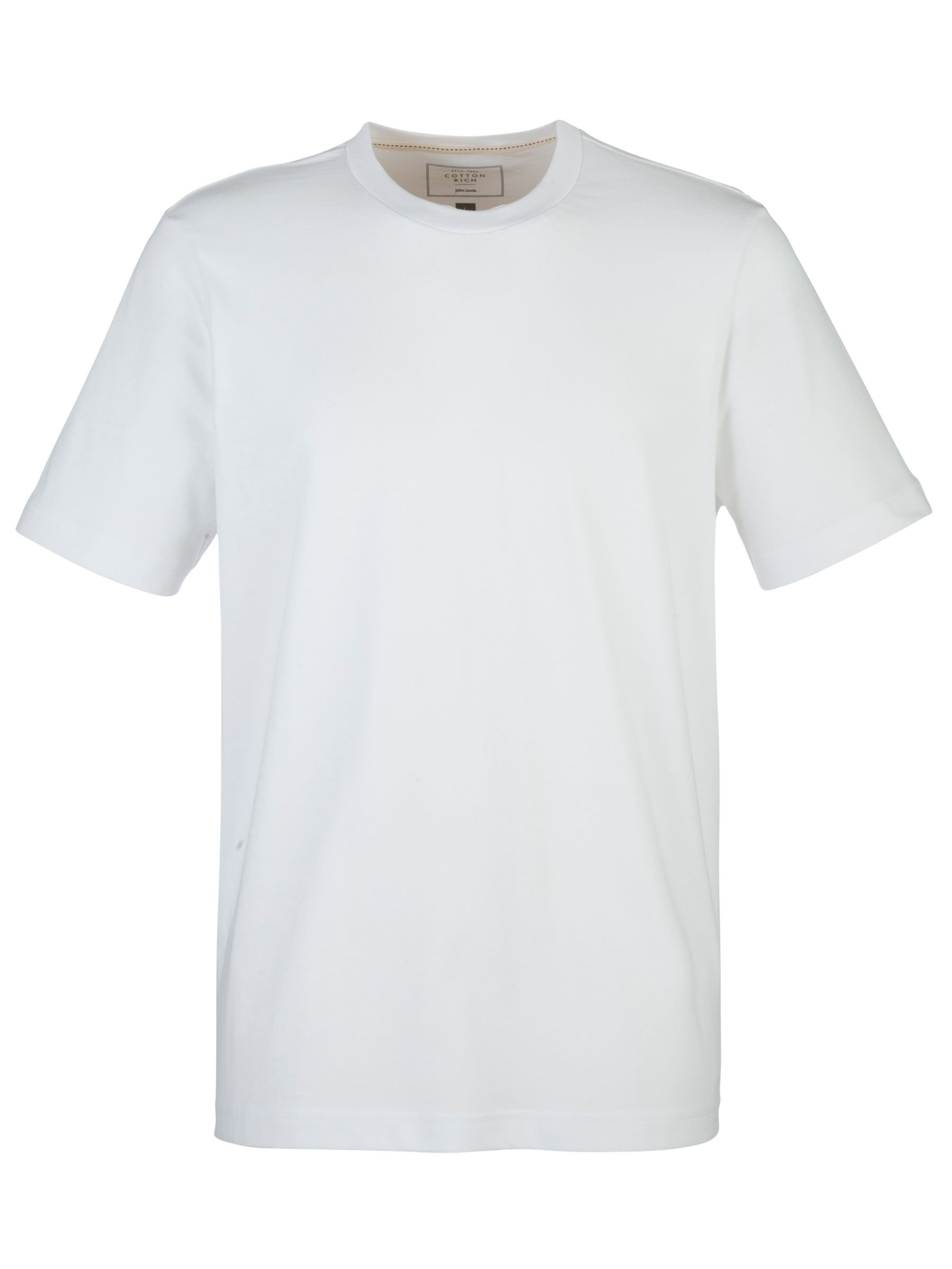 John Lewis Crew Neck Short Sleeve Lounge T-Shirt, White