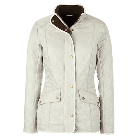 Buy Barbour Cavalry Polarquilt Jacket, Pearl Online at johnlewis.com