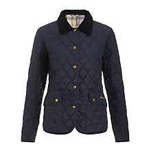 Buy Barbour Kendall Quilted Jacket, Navy Online at johnlewis.com