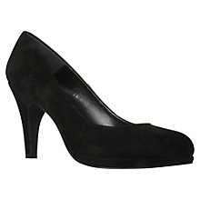 Buy Carvela Alas Suede Court Shoes, Black Online at johnlewis.com