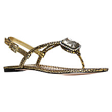 Buy Carvela Krown Flat Sandals, Gold Online at johnlewis.com